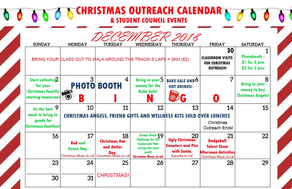 Christmas Outreach Calendar 2018