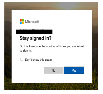 Login stay signed in